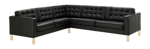 ikea the karlstad leather version and changed over to a slightly smaller sofa with tufts which kay heartily dislikes ucbecause